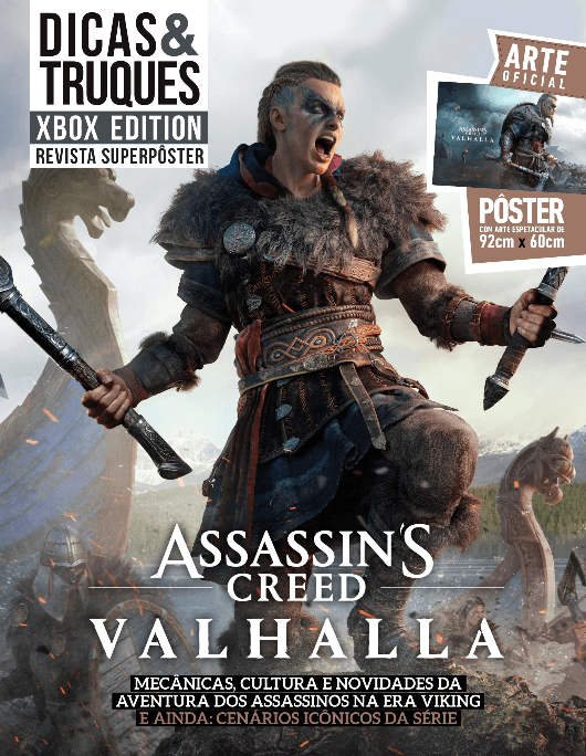 Revista Superpôster Dicas e Truques Xbox Edition - Assassins Creed Valhalla