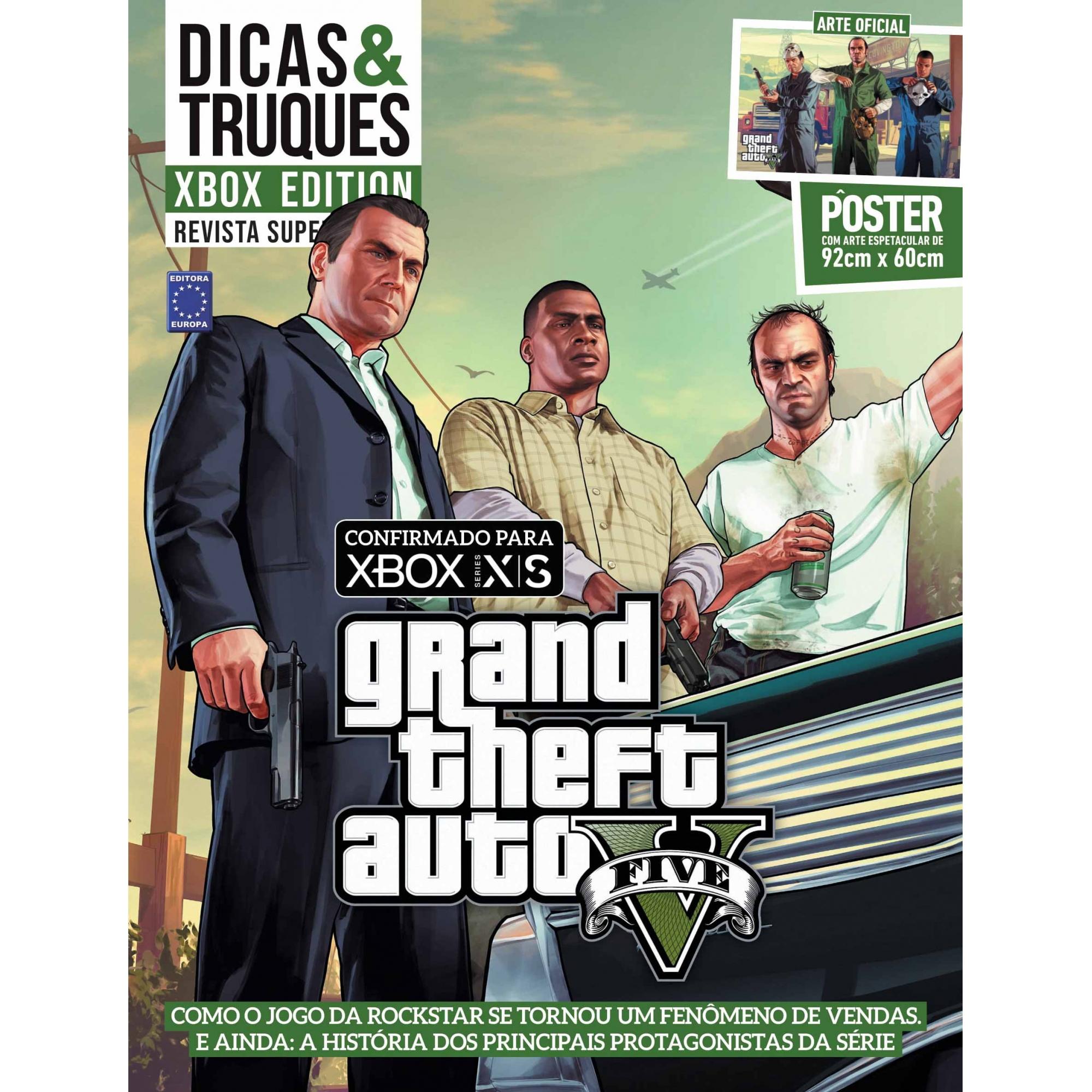Revista Superpôster Dicas e Truques Xbox Edition - Grand Theft Auto V