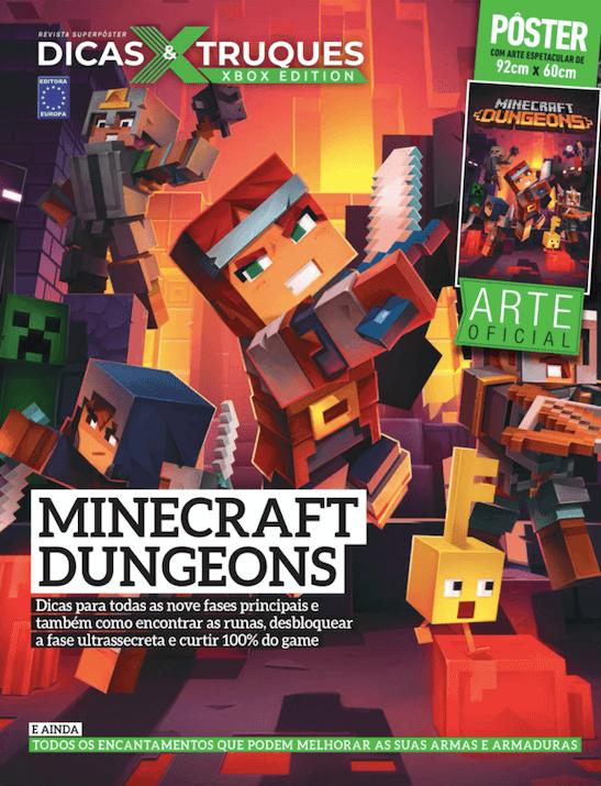 Revista Superpôster Dicas e Truques Xbox Edition - Minecraft Dungeons