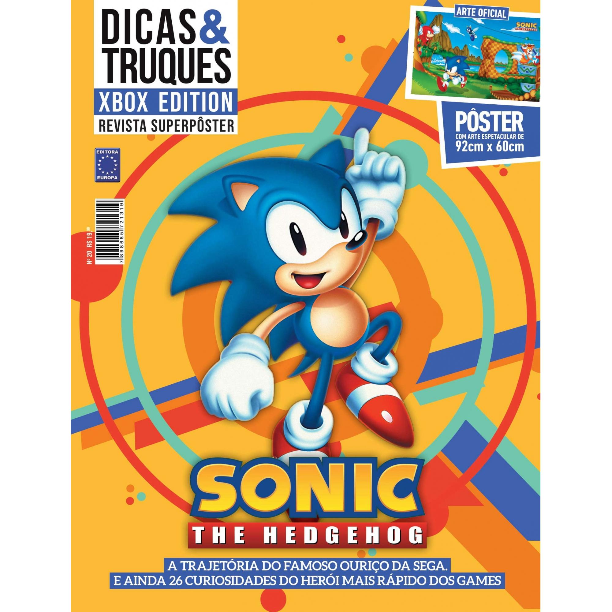 Revista Superpôster Dicas e Truques Xbox Edition - Sonic The Hedgehog