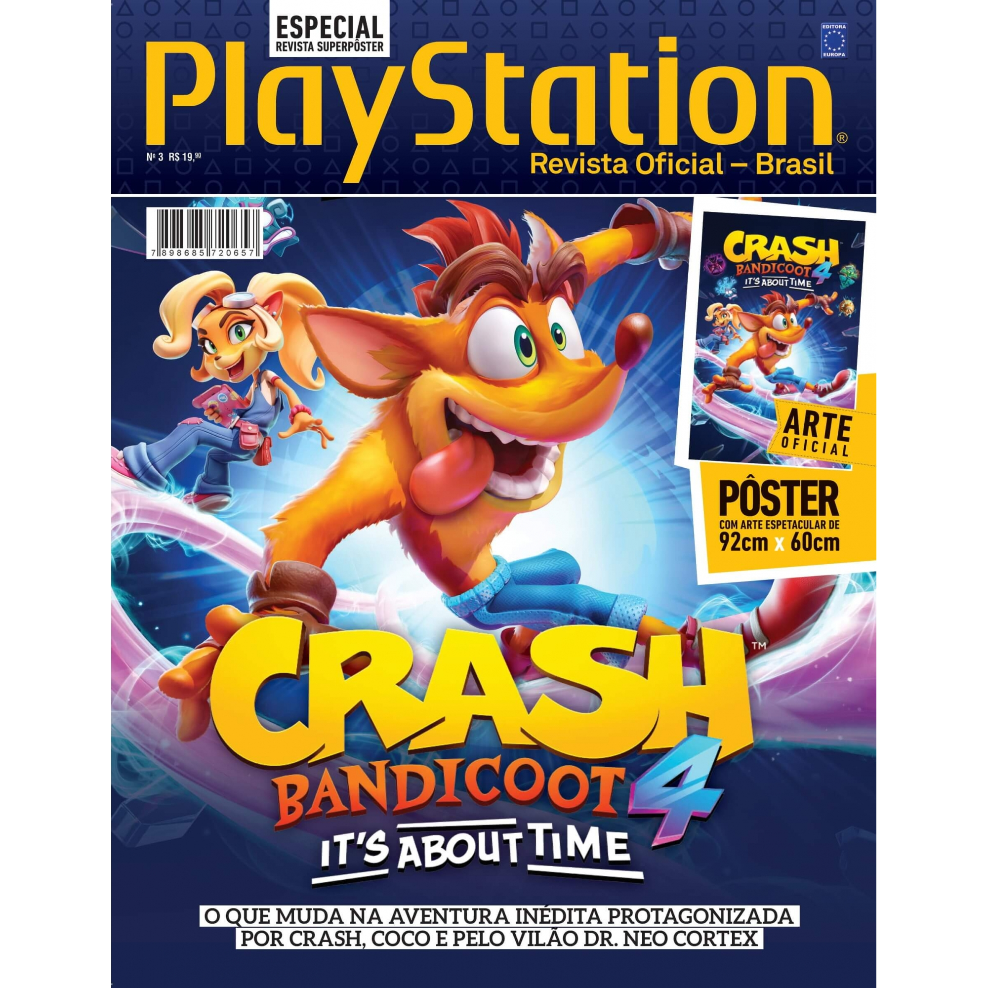 Revista Superpôster PlayStation - Crash Bandicoot 4