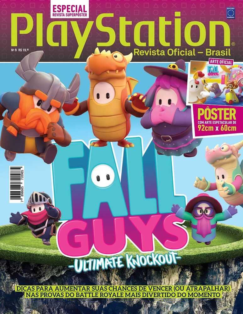 Revista Superpôster PlayStation - Fall Guys: Ultimate Knockout