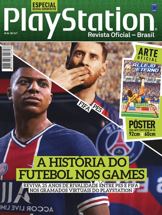 Revista Superpôster PlayStation - Futebol nos Games