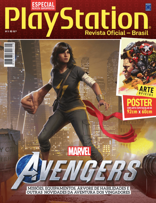 Revista Superpôster PlayStation - Marvel Avengers