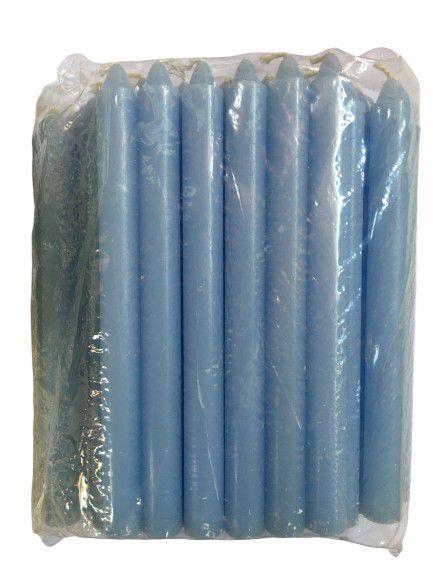 Vela Azul Claro Palito 18cm - Pacote com 1kg