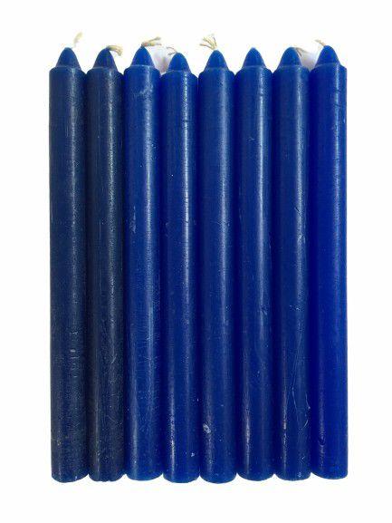Vela Azul Escuro Palito 18cm Pacote com 1kg