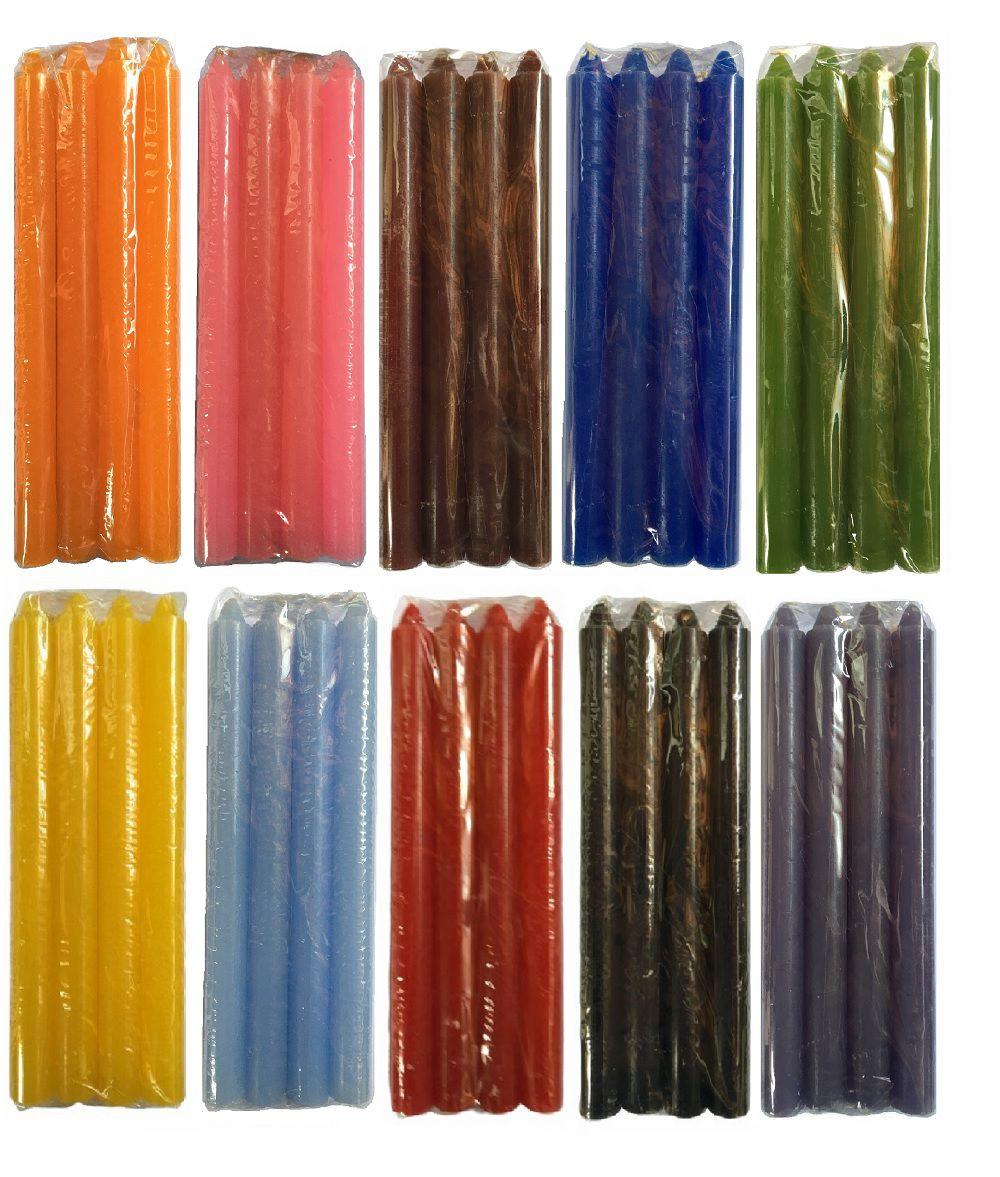 Vela Palito Coloridas 18cm c/ 12 Maços