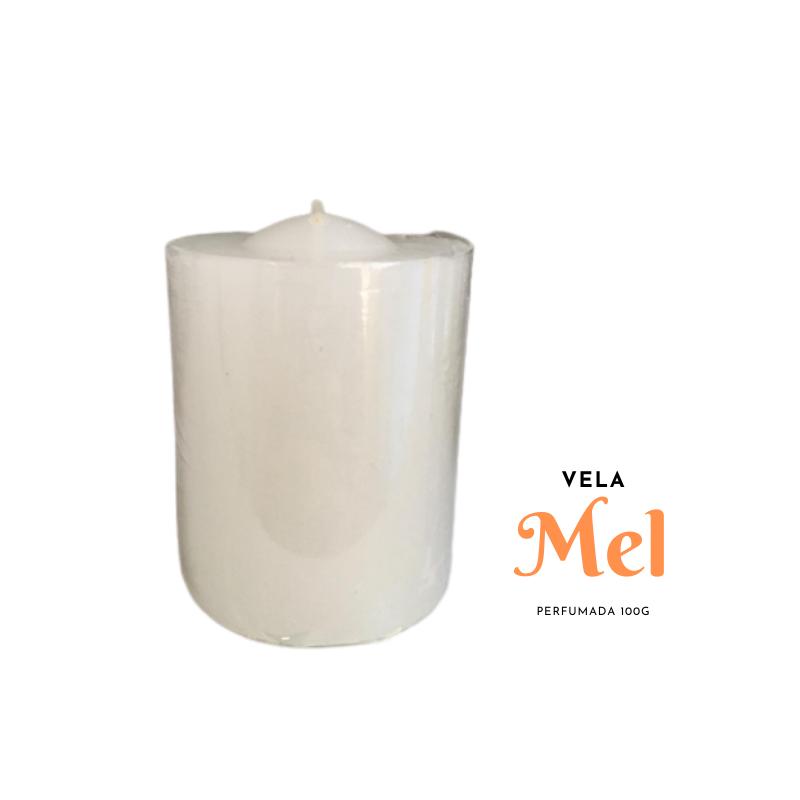 Vela Perfumada 100g Branca - MEL