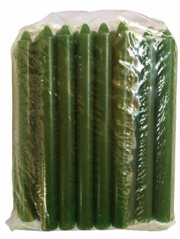 Vela Verde Palito 18cm - Pacote com 1kg
