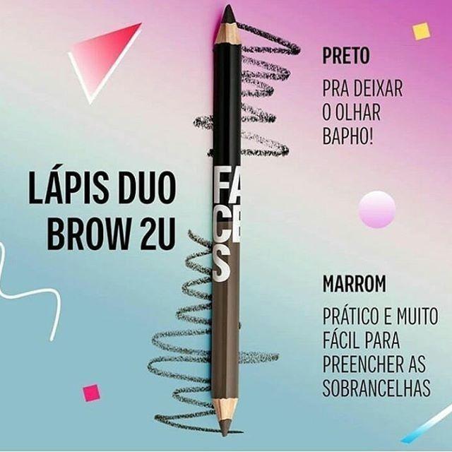 Lápis Faces Duo Brown 2U Preto e Marrom - Natura