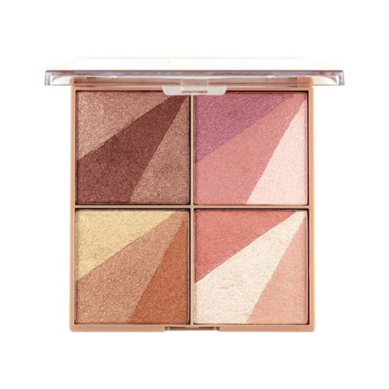 Paleta Luminous Sombra & Bronzer & Iluminador Belle Angel