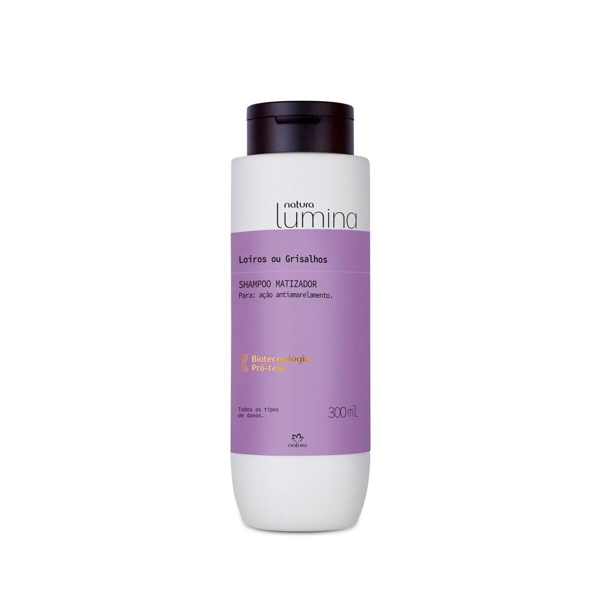 Shampoo Matizador Cabelos Loiros e Grisalhos Lumina 300 ml - Natura