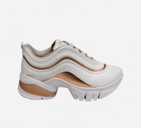 Ramarim sneaker 2180202 Branco Rose Metal