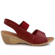 Sandália Usaflex rebu(vermelho) com elástico