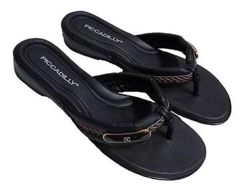 Chinelo 500273 piccadilly preto