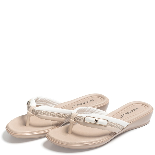 Chinelo Piccadilly Creme 500273