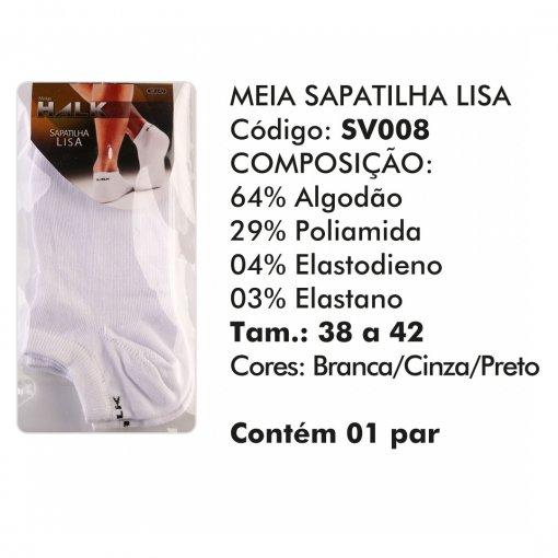 Meia Halk algodão kit com 3 pares