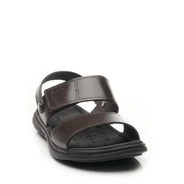 Sandália Pegada Masculina em Couro Cravo 131286-02