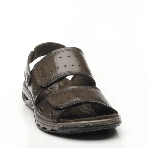 Sandália Pegada Masculina em Couro Cravo 131668-03