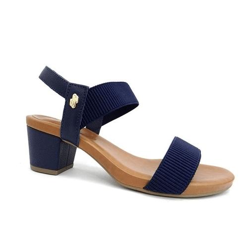 SANDALIA SALTO MÉDIO GROSSO Y8204 - USAFLEX - NEW BLUE