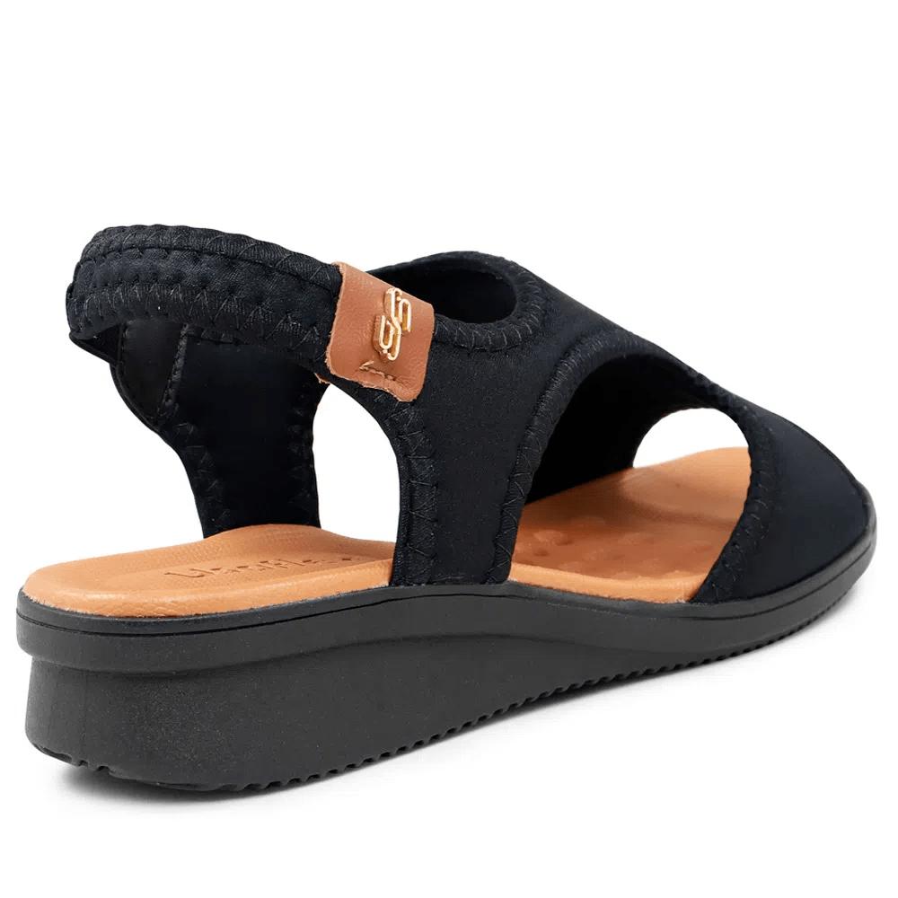 Sandália Usaflex elastano preto