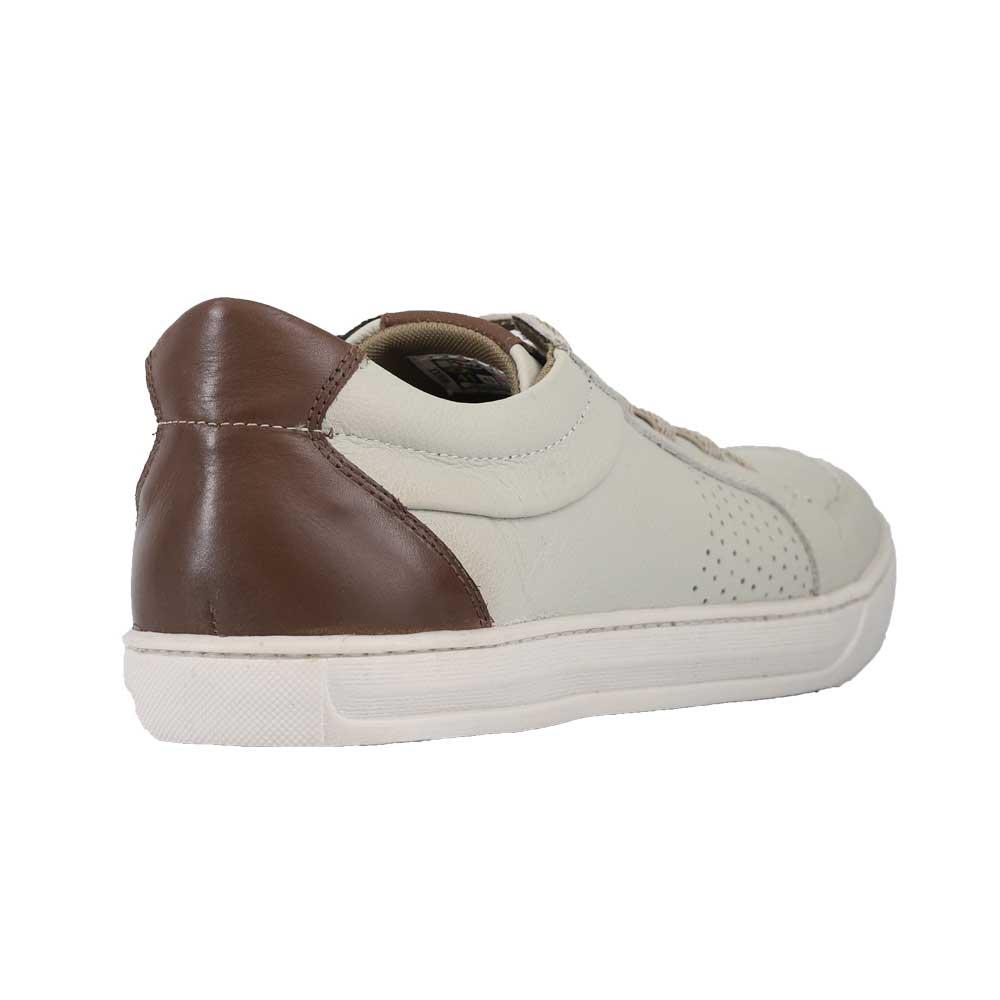 Sapatênis Mega Boots 15034 Off White/Chocolate
