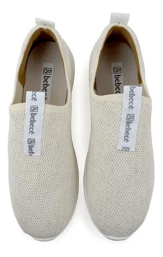Tênis Feminino Bebece Malha Active Off White- I1342-309