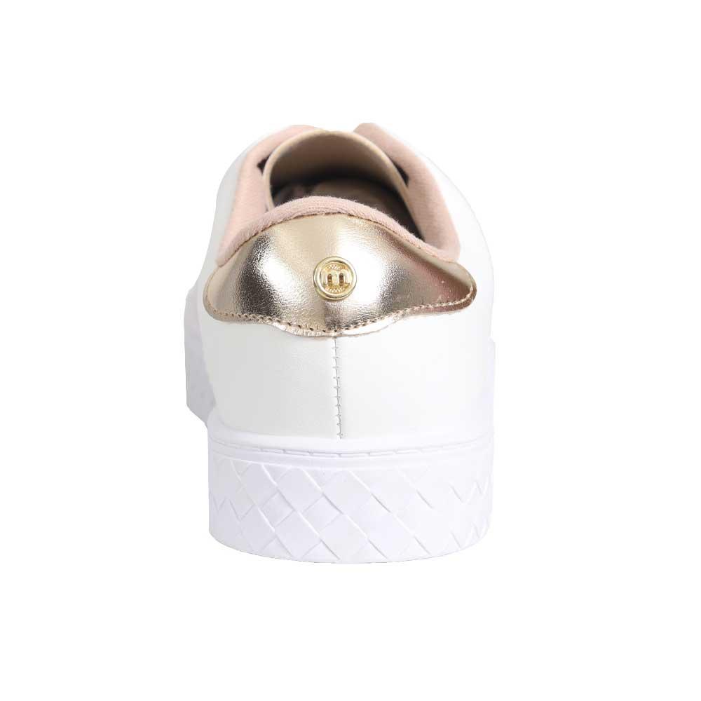 Tênis Moleca 5712.101 Branco/Dourado