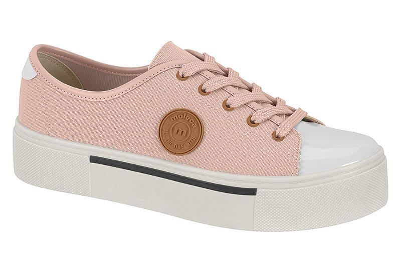 Tenis Moleca Confort 5658.329 Rosa/Branco