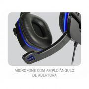 Headset K-Mex Gamer AR-S501 Com Microfone Preto/Azul