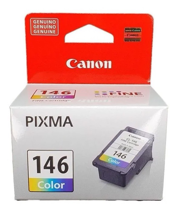 CARTUCHO DE TINTA CANON CL146 COLOR P/MG2410/MG2510/MG2910/MG301