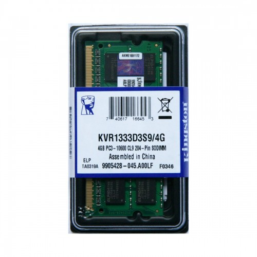 Memória Kingston 4gb DDR3 kvr1333d3s9/4g note