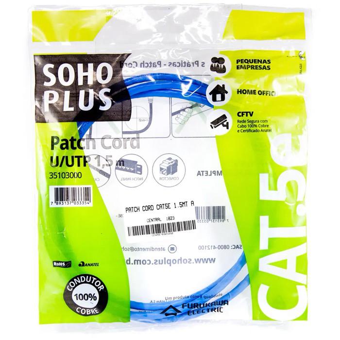 Patch Cord 1,5M Furukawa Soho Plus Azul