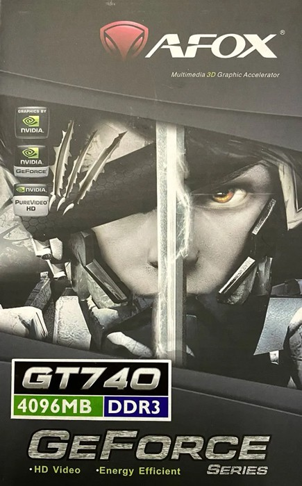 Placa de Vídeo Afox Geforce GT740 4GB DDR3 128 Bit