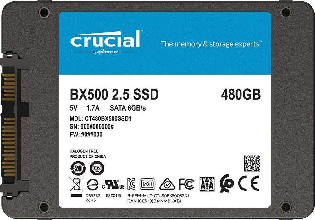 SSD Crucial BX 500 480 GB