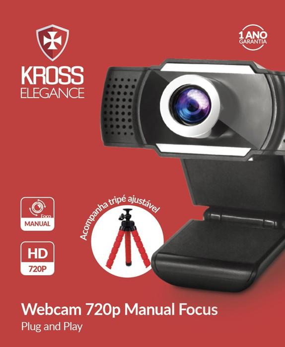Webcam HD 720P Foco Manual KE-WBM720P
