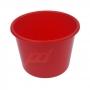 Balde de pipoca Vermelho de 1,5 Litros - Kit 10 peças