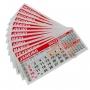 Calendário Refil de Mesa - Kit 100 peças