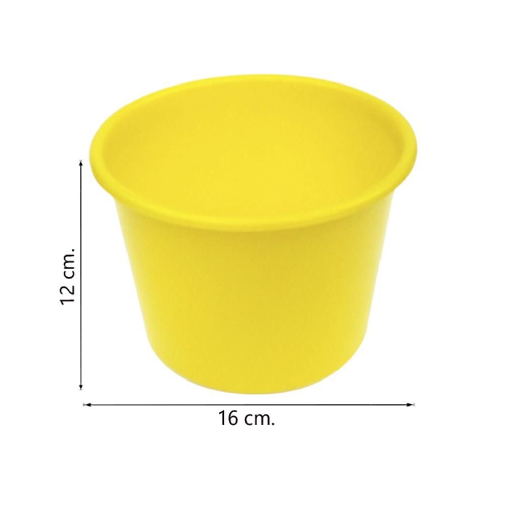 Balde de pipoca Amarelo de 1,5 Litros - Kit 10 peças
