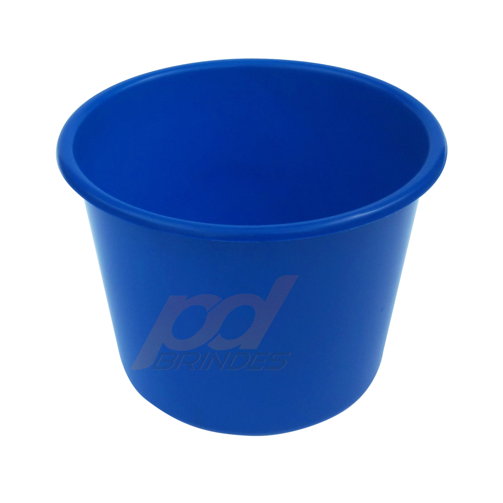Balde de pipoca Azul de 1,5 Litros - Kit 10 peças