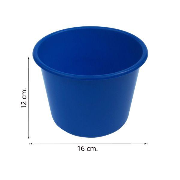 Balde de pipoca Azul de 1,5 Litros - Kit 30 peças