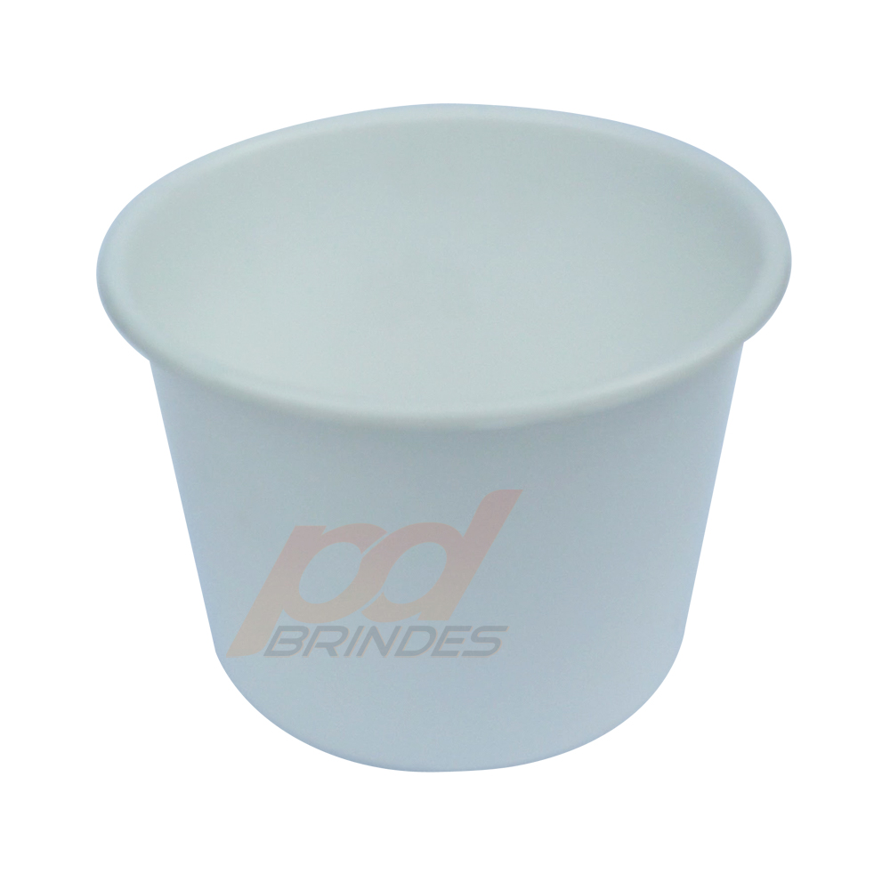 Balde de pipoca Branco de 1,5 Litros - Kit 10 peças