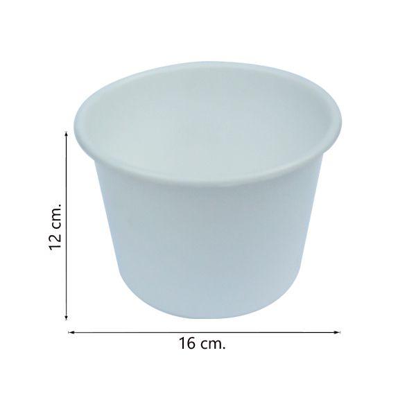 Balde de pipoca Branco de 1,5 Litros - Kit 30 peças