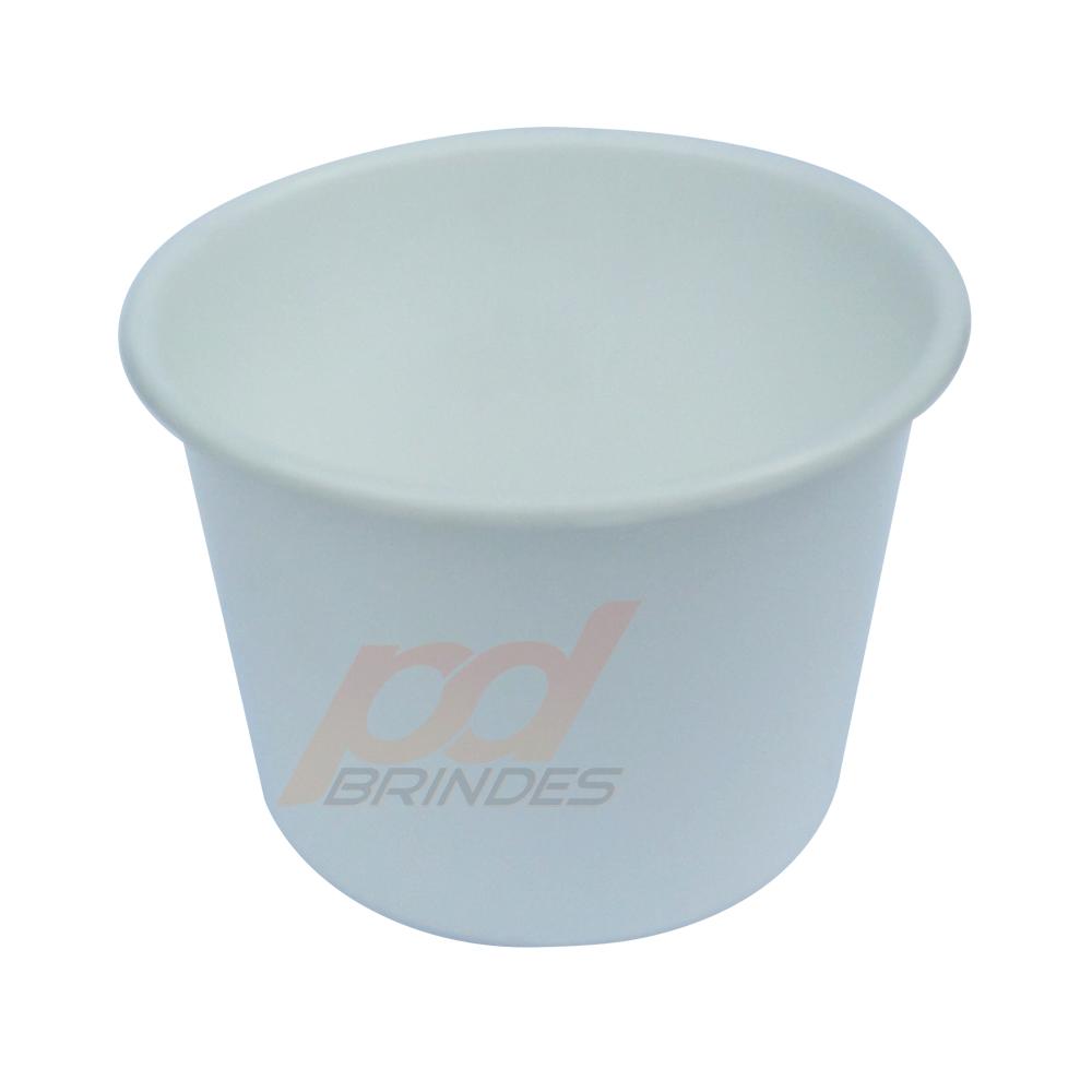Balde de pipoca Branco de 1,5 Litros - Kit 50 peças