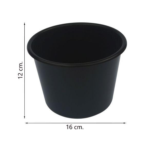 Balde de pipoca preto de 1,5 Litros - Kit 50 peças