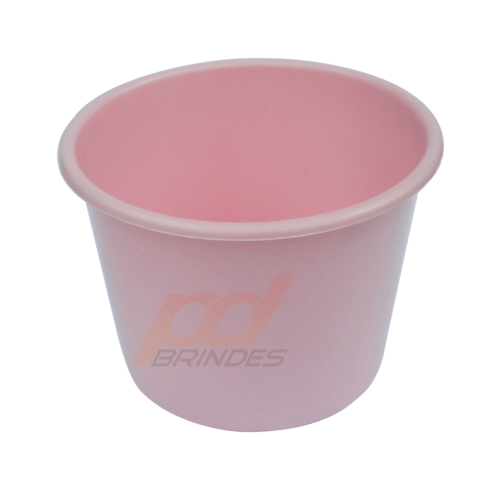 Balde de pipoca Rosa de 1,5 Litros - Kit 10 peças