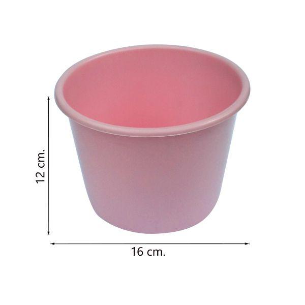 Balde de pipoca Rosa de 1,5 Litros - Kit 30 peças