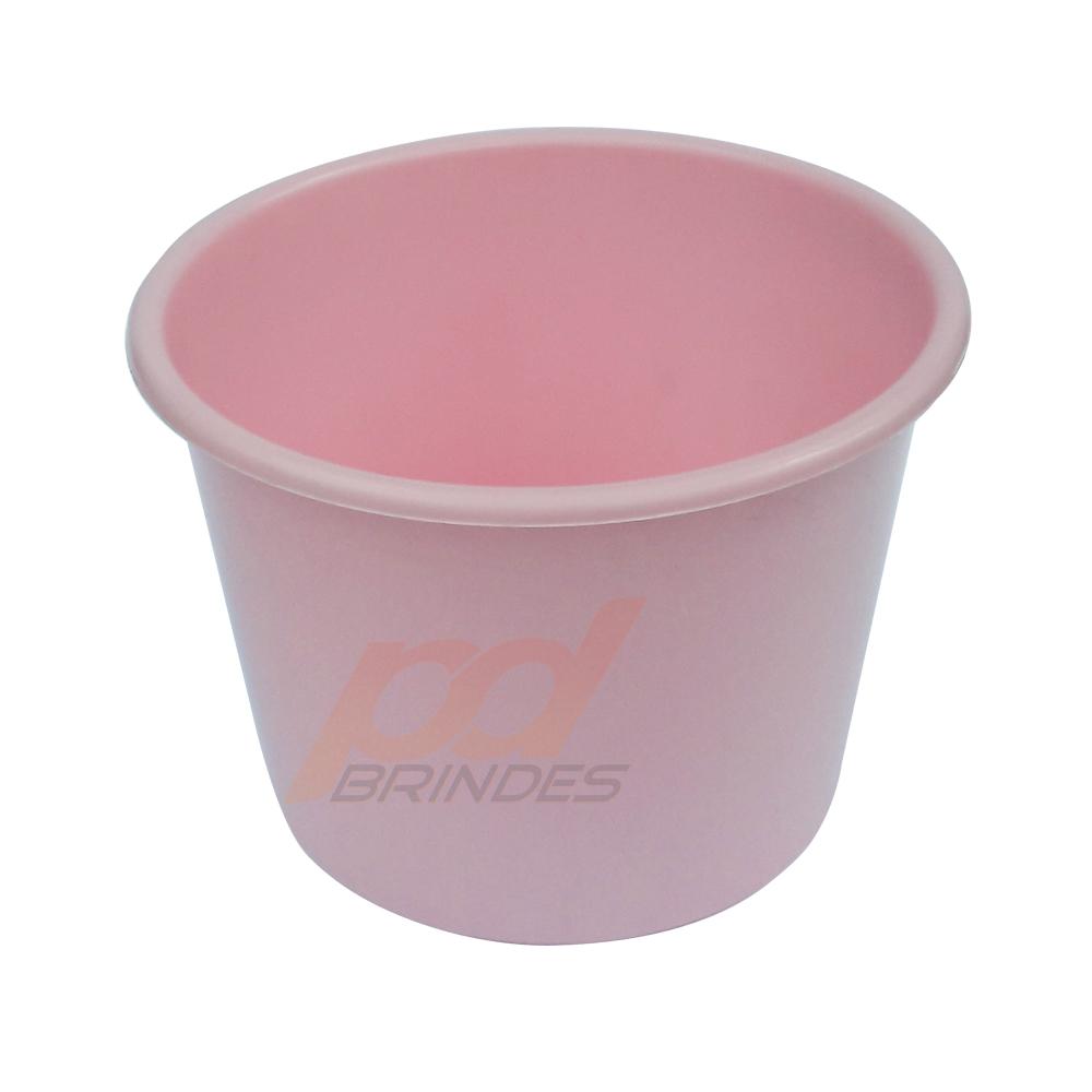 Balde de pipoca Rosa de 1,5 Litros - Kit 50 peças