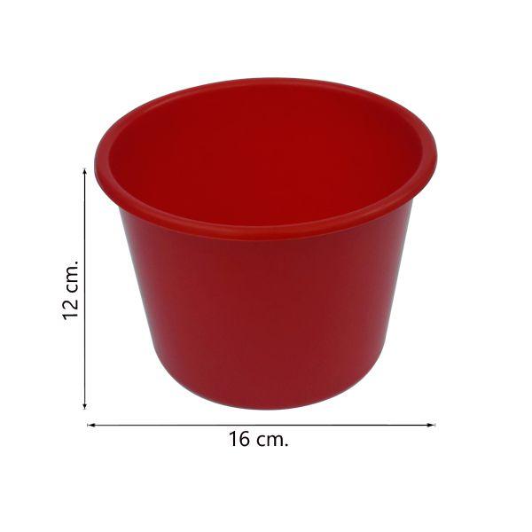 Balde de pipoca Vermelho de 1,5 Litros - Kit 30 peças
