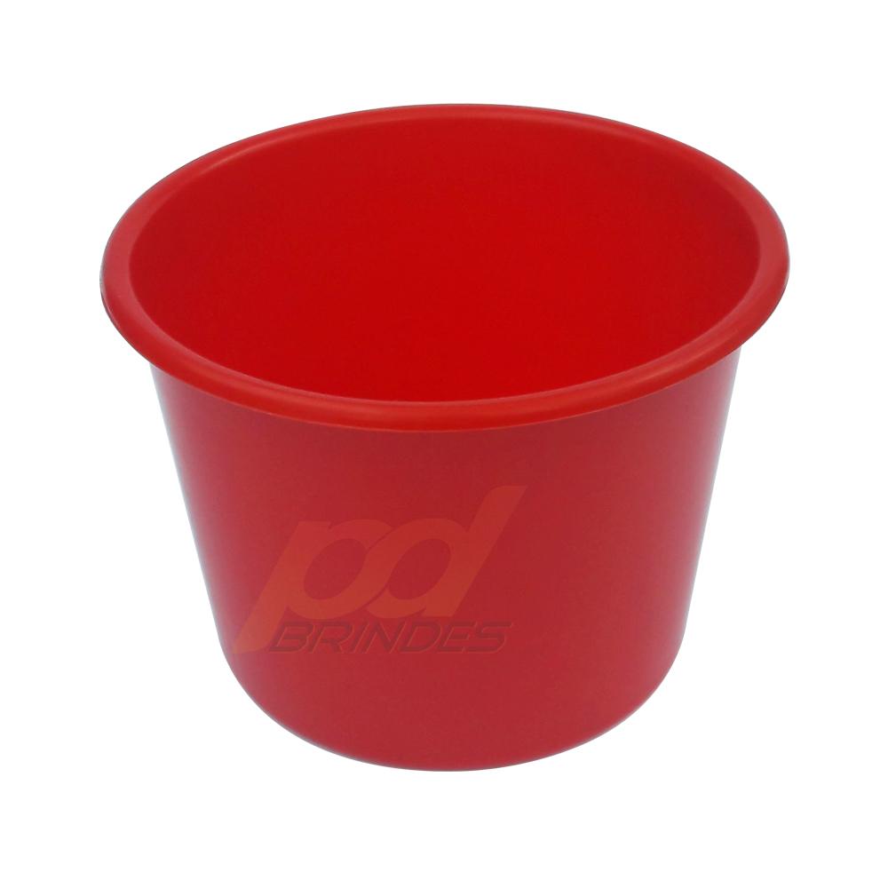 Balde de pipoca Vermelho de 1,5 Litros - Kit 50 peças